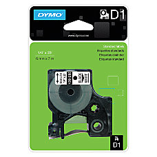 DYMO D1 1761283 Black On White