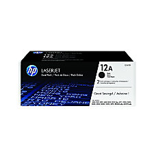 HP 12A Black Original Toner Cartridges