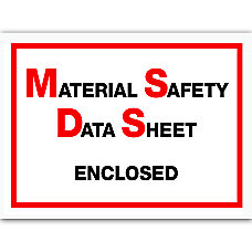 Office Depot Brand MSDS Enclosed Packing