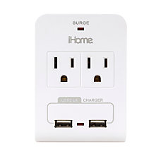 iHome Compact Multicharge Power Adapter Gray