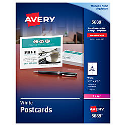 Avery Laser Post Cards 4 14