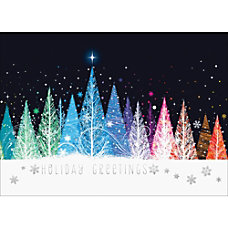 Personalized Holiday Cards With Envelopes Sparkling