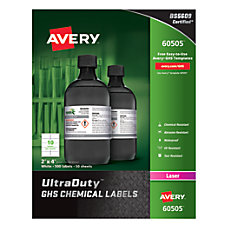 Avery UltraDuty GHS Chemical Labels 2