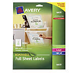 Avery White Removable Rectangular Labels 8