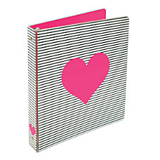 Divoga Heart Binder 1 Rings Pink