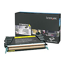 Lexmark Yellow High Yield Toner Cartridge