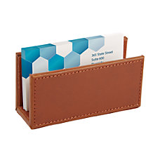 Realspace Leatherette Business Card Holder Tan