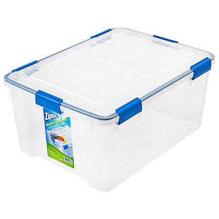 Ziploc Weathertight Storage Box 60 Quart 11 15 H X 17 45 W