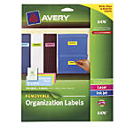 Avery Removable Neon Organization Labels 1