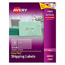 Avery Easy Peel Clear Laser Mailing