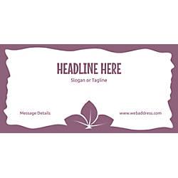 Custom Horizontal Banner Purple Leaves
