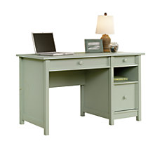 Sauder Cottage Desk Rainwater Soft Green
