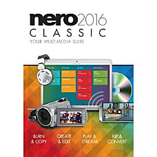 Nero 2016 Classic Your Multimedia Suite