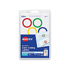 Avery Removable Round InkjetLaser Color Coding