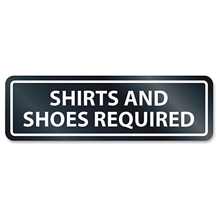 U s stamp sign shirtsshoes reqrd window sign 1 each for Office depot shirt printing