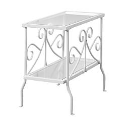 Monarch Specialties Side Table Rectangle ClearWhite
