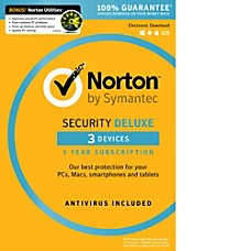 Norton Security Deluxe 3 Devices with