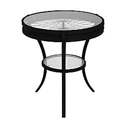Monarch Specialties Glass Accent Table Round
