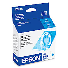 Epson T0332 T033220 Cyan Ink Cartridge