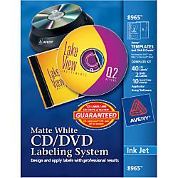 Avery Inkjet CDDVD Design Kit Labels