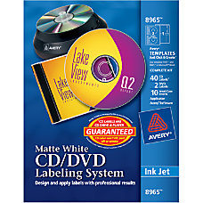 Avery Inkjet CDDVD Design Kit Labels