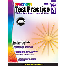 Spectrum Test Practice Workbook Grade 4