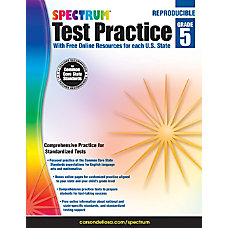 Spectrum Test Practice Workbook Grade 5