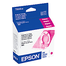 Epson T0333 T033320 Magenta Ink Cartridge