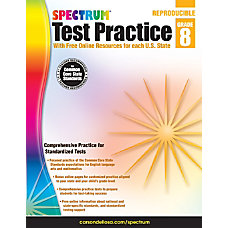 Spectrum Test Practice Workbook Grade 8