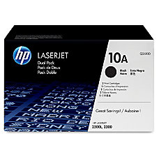 HP 10AD Black Original Toner Cartridges