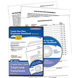 Adams create your own employee handbook cd by office depot for Design your own office