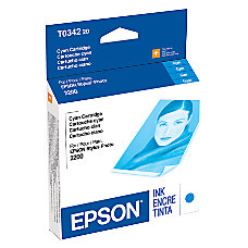Epson T0342 T034220 UltraChrome Cyan Ink