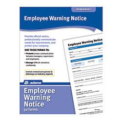 Adams Warning Notice Forms