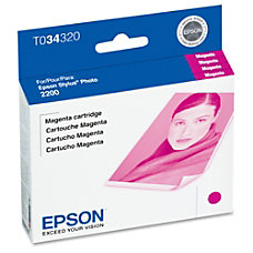 Epson T0343 T034320 UltraChrome Magenta Ink