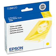 Epson T0344 T034420 UltraChrome Yellow Ink