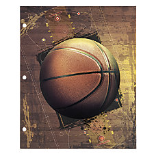 Office Depot Brand Sports Folder Basketball