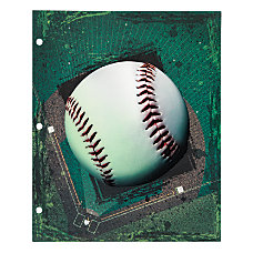 Office Depot Brand Sports Folder Baseball
