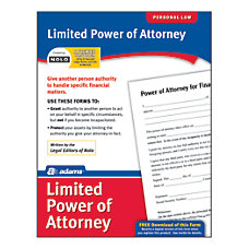 Adams Limited Power of Attorney
