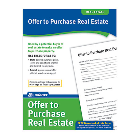 Adams offer to purchase real estate by office depot officemax - How to save money when purchasing office supplies ...