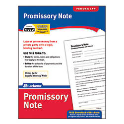 Adams Promissory Note By Office Depot  Officemax