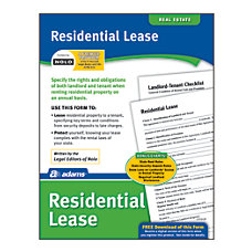 Adams Residential Lease