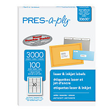 PRES a ply Address Label Permanent