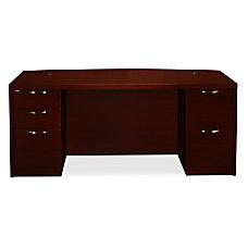 HON Valido Bow Front Desk Mahogany