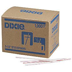 Dixie Stir Sticks WhiteRed Box Of