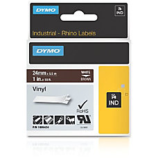 Dymo White on Brown Color Coded