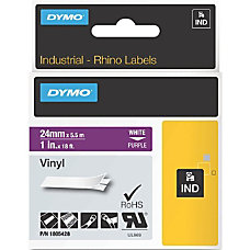 Dymo White on Purple Color Coded