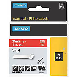 Dymo White on Red Color Coded