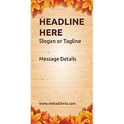 Custom Vertical Banner Autumn Leaves
