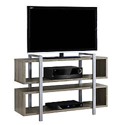 Monarch Specialties Bookcase TV Stand For