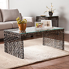 Southern Enterprises Loni Woven Cocktail Table